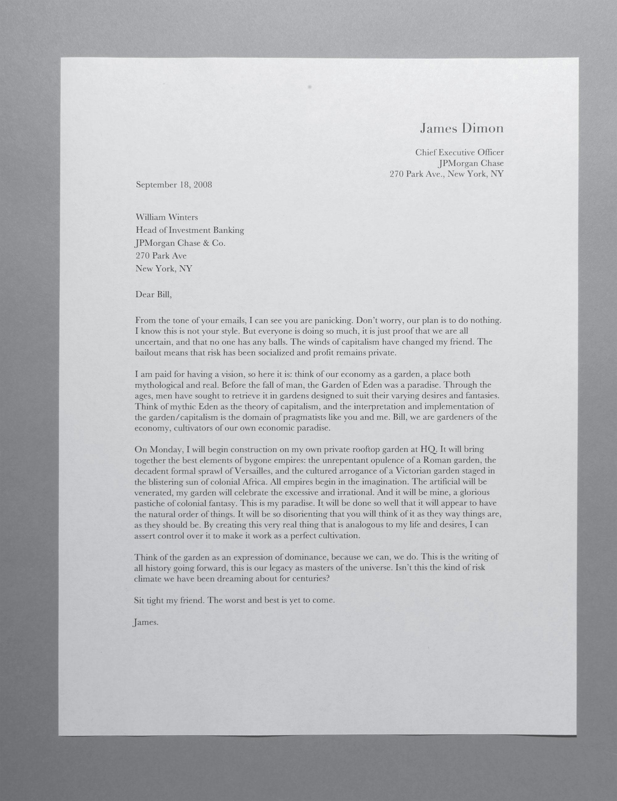 Imagining JPMorgan CEO Jamie Dimons Love Letters